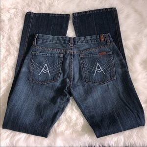 7 Seven For All Mankind A pocket wide bottoms EUC